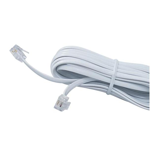 CABLE 2 MACHOS BLANCO 4.5 MTS