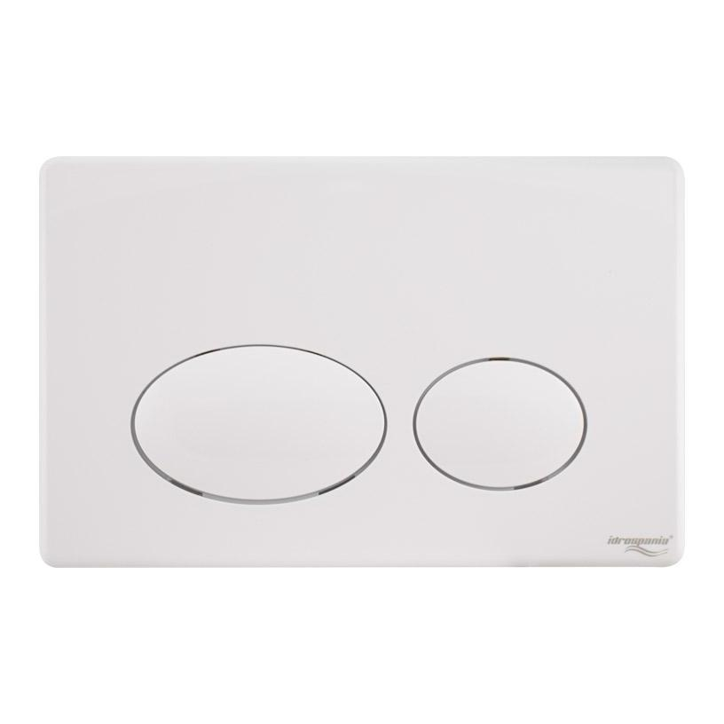 PLACA ACCIONAMIENTO DOBLE PULS. ABS BLANCO